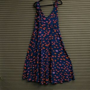 Betsy Johnson Hot Lips Dress 16W